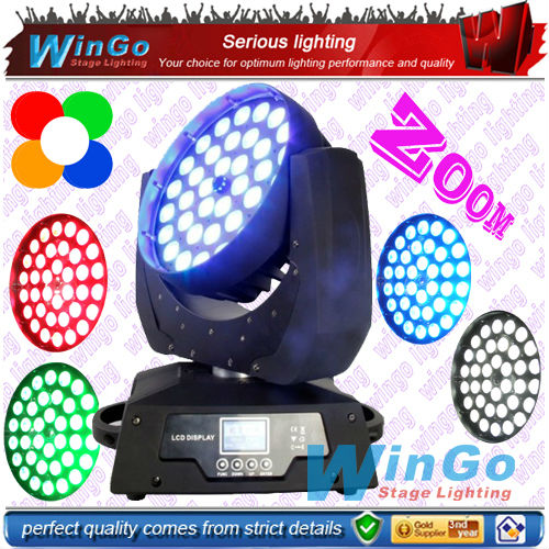WG-G1020 LED beam wash zoom moving head stage light /10w rgbwa LED zoom led wash beam moving head light