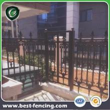 Decorative Courtyard Zinc Steel Fence and Gate
