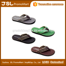 Promotional Customize Men's Fashionable EVA Soft Beach Walk Slipper with Woven Belt from China