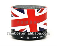 UK Flag Rechargeable S10 Mini Bluetooth Speaker Indoor Mini Bluetooth speaker