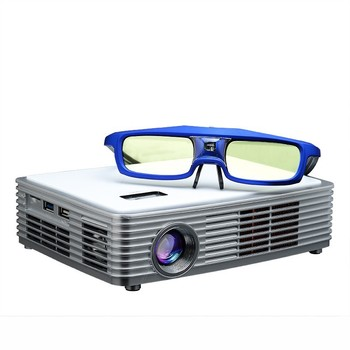 Blu-ray 3D Mini HD LED DLP Projector Android 4.2.2 OS Smart Home Cinema Luxcine