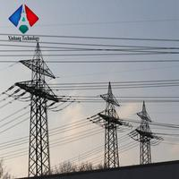 220 Kv Electric Power Lattice Tower