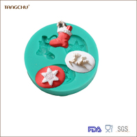 Christmas Decorating Kitchen Tools Silicone Mold For Wedding&Party Trees &Sock Shape Mould