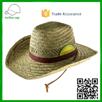 Custom Made promotional gift paper straw hats big brim mexican sombrero straw hat wholesale
