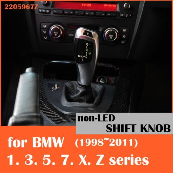 Non-illuminated gear selector lever shift knob for BMW E38 E39 E60 E46 E90 E92 E82 E87 E84 E83 E53 E85 E89 1998 2011