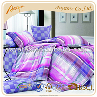 100% cotton holiday plain printed bedding sets