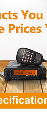 HYS 50W VHF UHF Dual Band Ham Radio Power Amplifier for Walkie Talkie TC-VU50