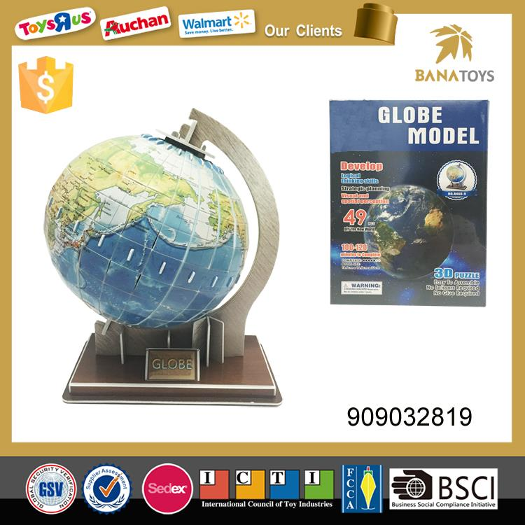 3d globe world map paper jigsaw puzzle