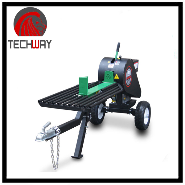 34 ton portable wood cutter gasoline wood rotary cutter timber wood splitter