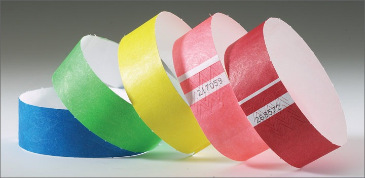 Tyvek Wristbands Solids Manufacture/Tyvek Wristbands/Sequential Number Tyvek Wristbands