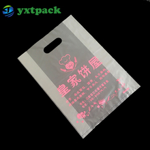 Custom Logo Design Die Cut Plastic Color Printed Packaging Handle Bag For shoes / Clothing /suits