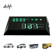 auto can vehicle car bus digital electronics over speed alarm windscreen head-up display 12V 24v gps speedometer