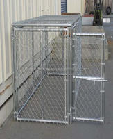 large cheap galvanized chain link rolling fence pet cages fancy dog kennel
