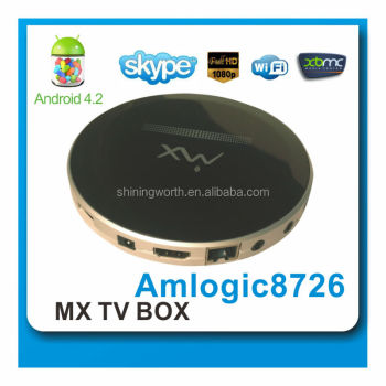 Android 4.2 amlogic 8726-mx Dual Core Mini PC RJ-45 USB WiFi XBMC Smart TV Media Player android 4.2 smart tv box