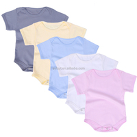 5 color pack short sleeve cotton wholesale baby romper baby onesie