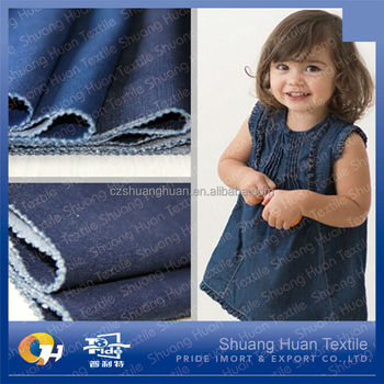 SH-J644 Children Indigo Dyed Knitted Denim Fabric 220gsm