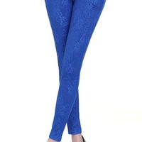 N10118 Korean lace pants women casual pants stylish sexy tight pencil pants for ladies