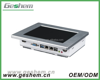 Geshem PPC-GS0804T 8 inch with 2GB DDR3 memory and 16GB MSATA SSD mini Linux embedded pc