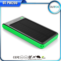Wholesale waterproof solar power bank 6000mah mobile power supply