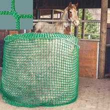 Green color crop use biodegradable netting horse slow feed hay net/safety net