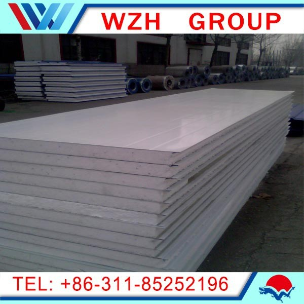 China suppliers roof panel sandwich/food factory panel,50mm coolroom panels