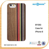 for apple iphone Natural Bamboo Colored Wood Stripe Back Case For iphone 6