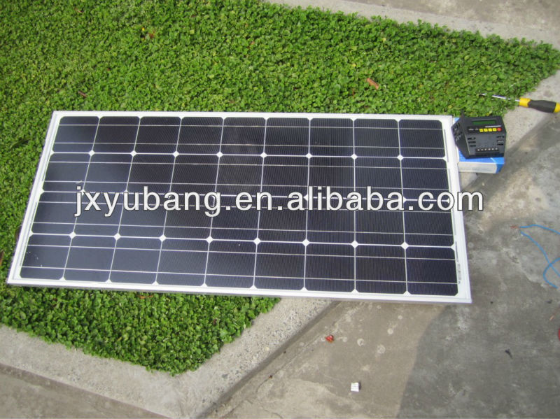 100W 12V mono crystalline solar panel photovoltaic pv panel solar module for caravan motor homes touring car RV Park