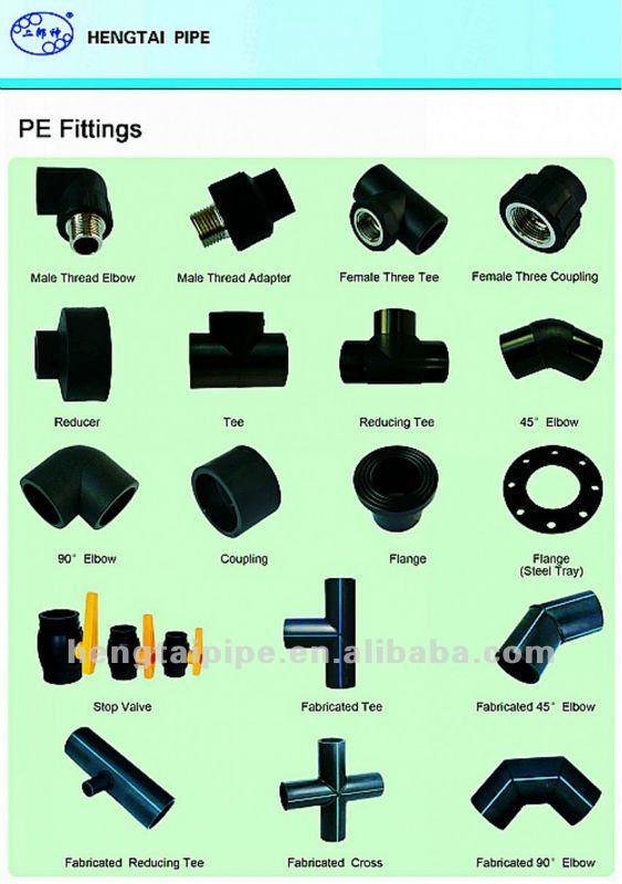 HDPE pipe fitting PEHD pipe and fittings durable quality
