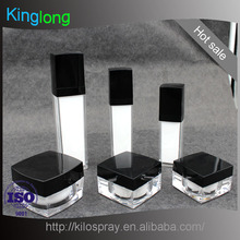 30ml 50ml 100ml square plastic Acrylic lotion pump bottle and jar