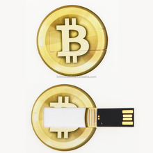 2018 new products BitCoin shaped High quality usb card souvenir custom antique gold coin