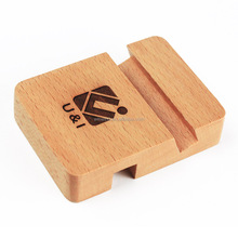 Bamboo Wood Charging Stand mobile phone holder, real wood cell phone stand mobile holder for iPhone
