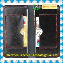 China Supplier Cowhide two mobile phones genuine leather case for iPhone 6