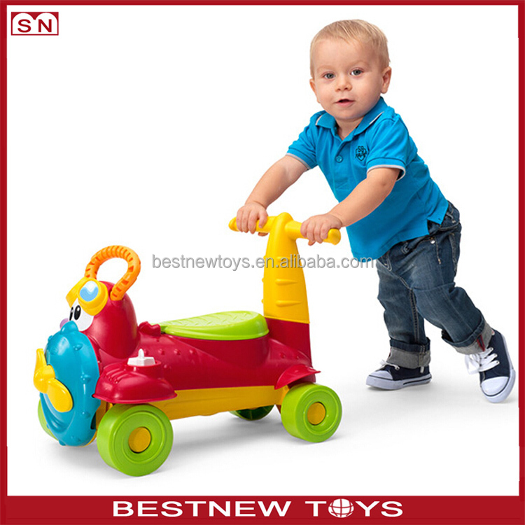 Newest 4-wheel unique push walker toy plastic classic baby cart