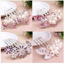 Many Styles Wedding Party Bridal Crystal Diamante Flower Tiara Five Tine Hair Comb Prom Headpiece New