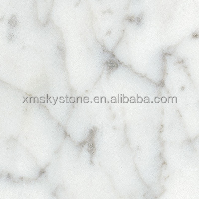 polished Carrara White marble