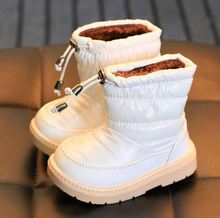Hot selling plush inneer children waterproof colorful cute winter warm girls snow boots