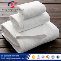 China manufacturer of new design white hotel towel/hotel bath towel