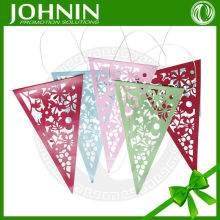 Personalizar talla flores de color del cordón wedding party <span class=keywords><strong>bunting</strong></span> papel