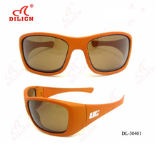 Custom cycling polarized designer fashion safety the newest orange sunglasses