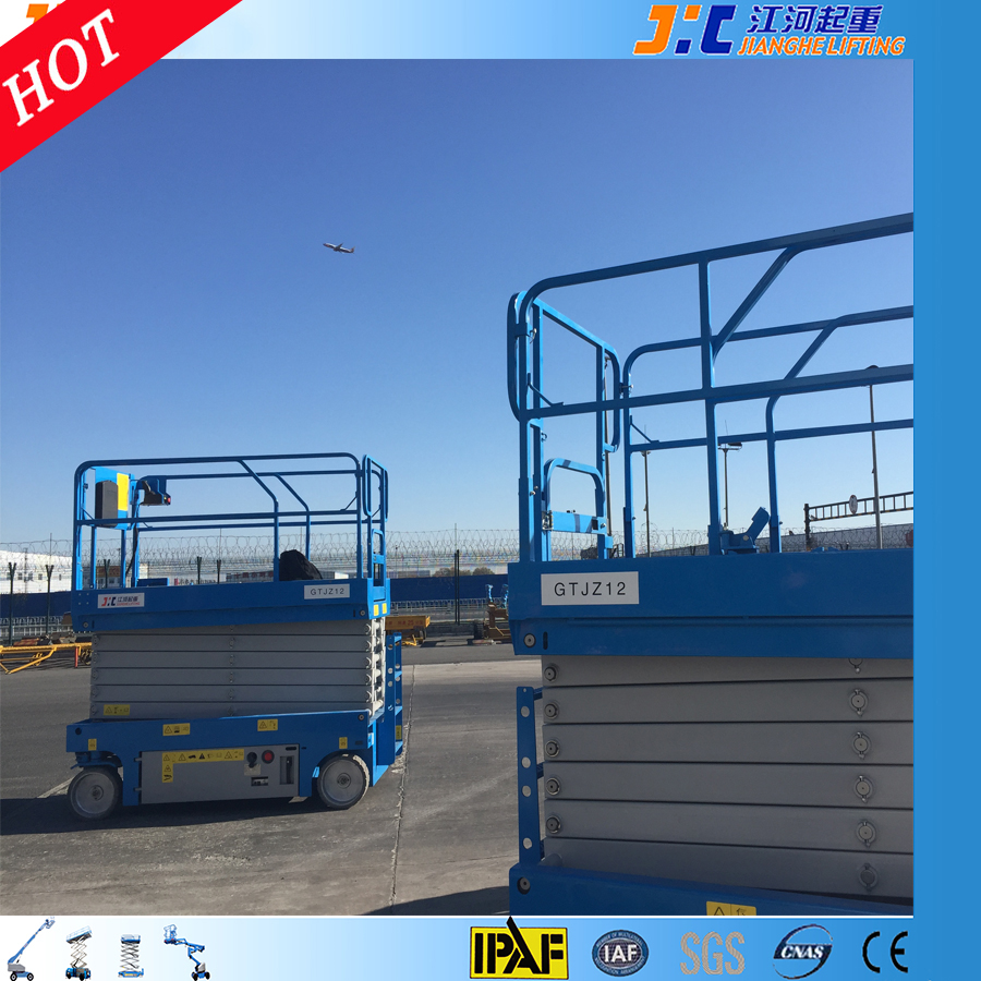12m lifter aerial working platform one man scissor lift crane building window cleaning equipment