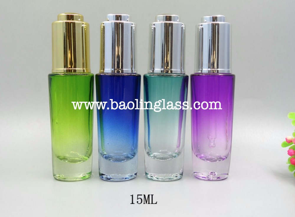 15ml Cosmetic Packaging Lotion Dropper Bottle Liquid Glass Foundation Bottle