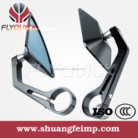 SF085 motorcycle handlebar end mirrors and aluminum bar end mirror made in china with black gold orange red white for suzuki