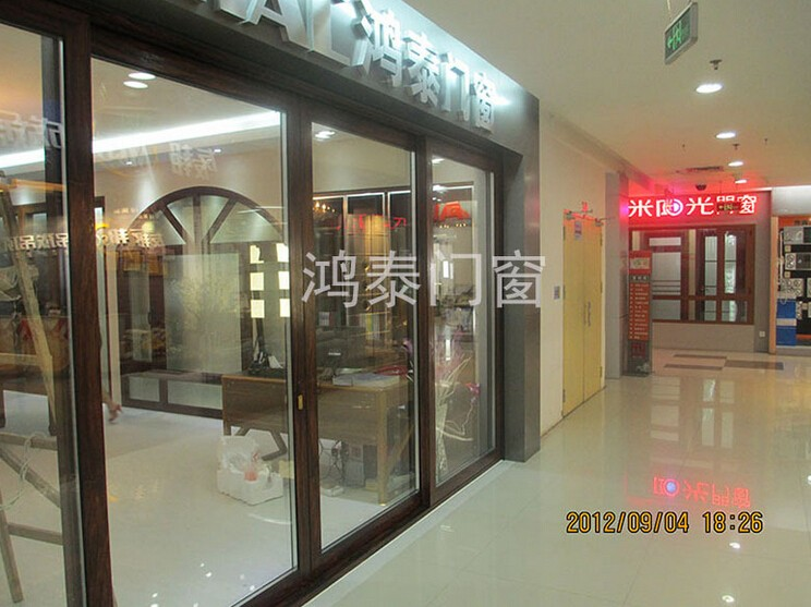 used commercial aluminum frame glass entry door shop front door