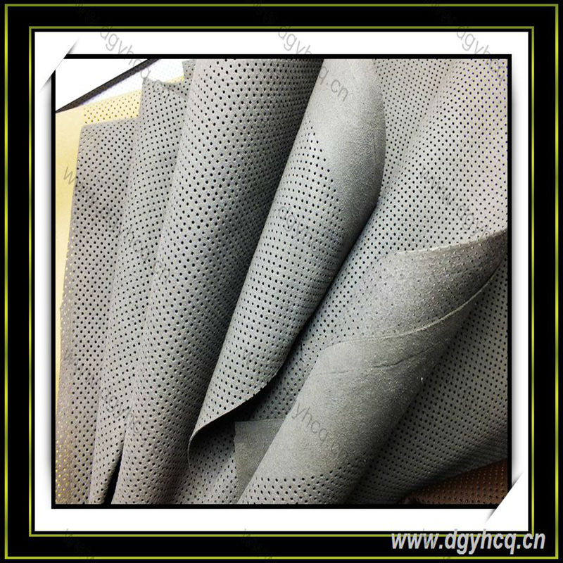 high quality wear-resistence perforated car leather punch hole leather
