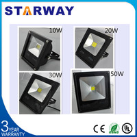 Taiwan chip 3 year guarantee IC driver super strong die cast aluminum solar smd led flood light tech box