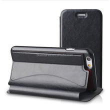 High quality Pu leather PC flip case with card slot for iPhone 6