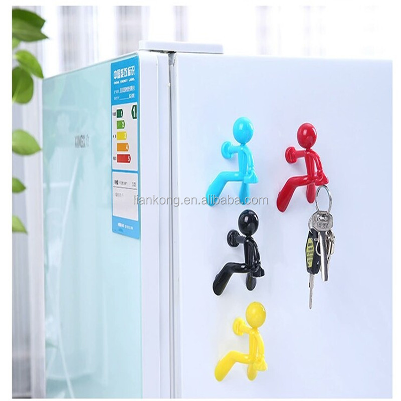 Cartoon Strong Magnetic Key Hang Decorative Q-man Magnetic Wall Mounted Key Hanger