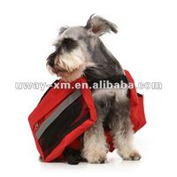 UW-PBP-012 Stylish outdoor design,portable bright red canvas pet travel bag for dogs,cats,dog travel bag