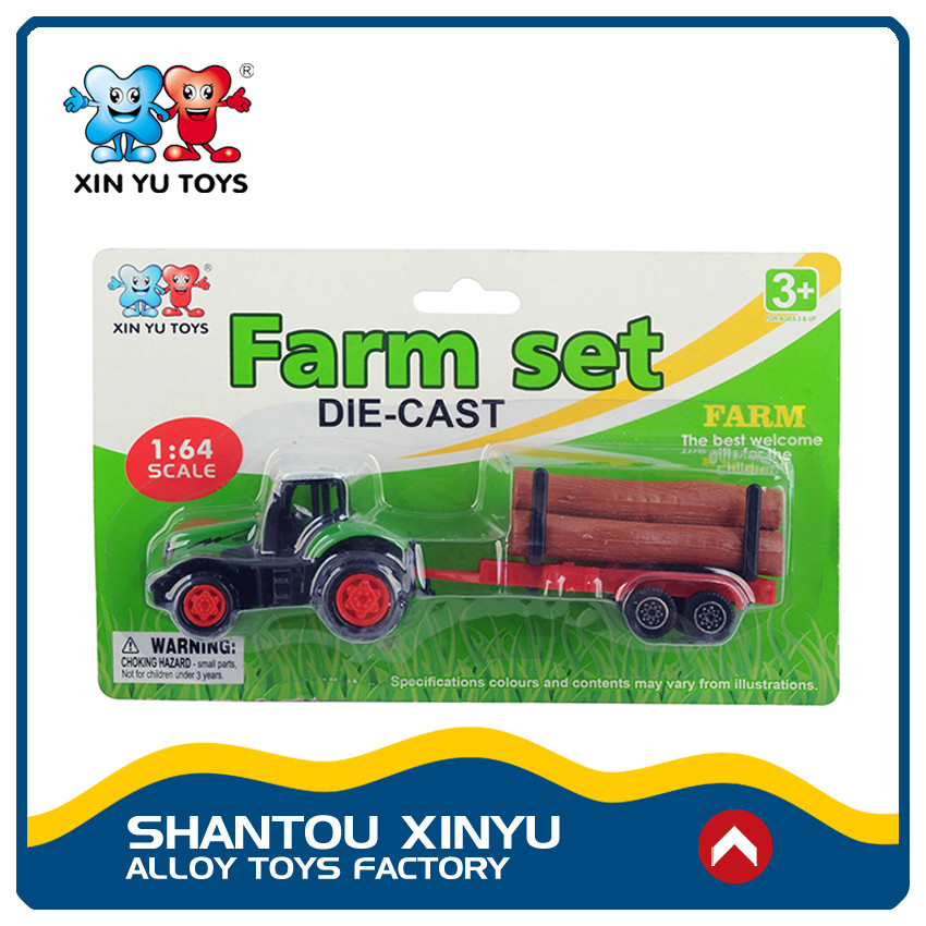Cheng hai factory diecast 1:64 alloy metal farm tractor toy for sale