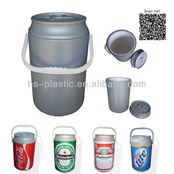 Plastic Can shaped cooler box